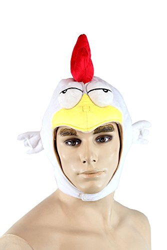Chicken HAT MGS Metal Gear Solid 5 V the Phantom Pain Plushie Headwear Cap (Chicken Costumes For Adults)