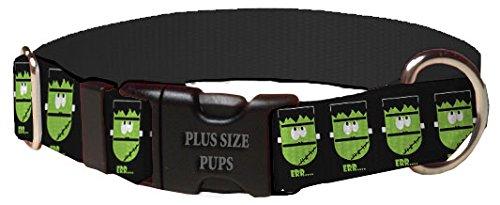 Plus Size Pups Halloween Dog Collar - Frankenstein Dog Dog Collar (PSP-50/90)