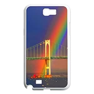 DIY rainbow Case, DIY Cell Phone Case for samsung galaxy note 2 n7100 with rainbow (Pattern-5)