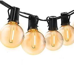 Catena Luminosa Esterno, Bomcosy 30m Luci da Esterno LED Catene Luminose per Esterni con 50+2 G40 Filo Lampadine Luminarie Lucine da Esterno Decorative per Giardino Natale Terrazza Matrimonio Partito 12 spesavip