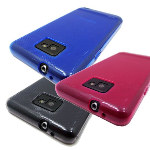 I9100 Phone Cell (3x Samsung i9100 Galaxy S2 TPU Rubber Case - Black, Blue, Pink)