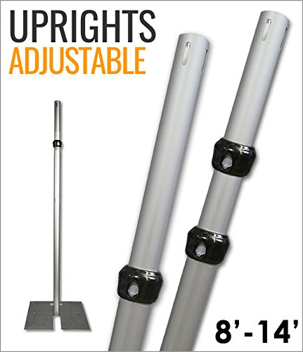 8'-14' Tall Adjustable Upright for Pipe and Drape Systems (2