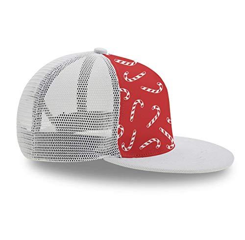 YongColer Baseball Caps, Fashion Candy Cane-1 Trucker Hat, Snapback Adjustable Hat 3D Print Hip Hop Plain Cap for Men Women
