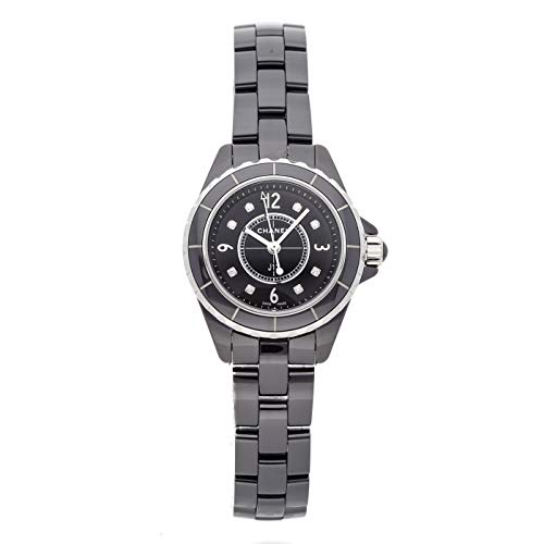 Ceramic Chanel Watch Black - Chanel J12 Quartz (Battery) Black Dial Womens Watch H2569 (Certified Pre-Owned)