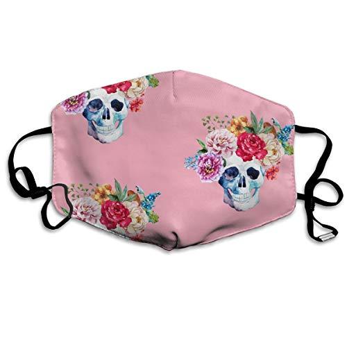 4 Colorful Skull Pink Mask Mouth Mask Neck