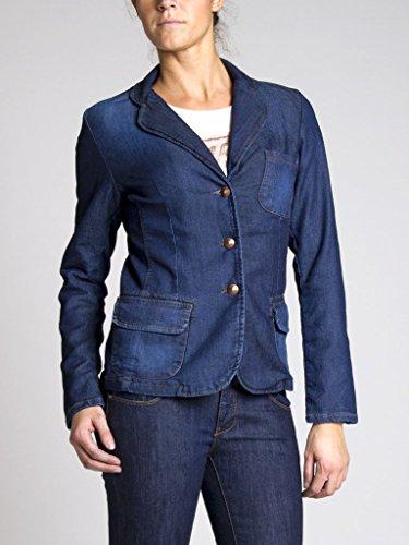 Veste Extensible Jeans 451 Lavage Bleu Taille Manche En Carrera Longue Slim Femme 001 Tissu Jean Foncé Pour C1qwnnU5