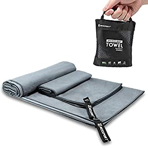 Well-Being-Matters 419GlEub2wL._SS300_ Bessport Microfiber Towel Travel & Beach & Sports Towel Set, Fast Quick Drying · Super Absorbent ·Ultra Compact Hand…