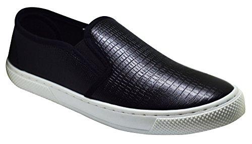 Qupid Roxbury-02 Womens Ödla Print Sneakers Svart Ödla Pu