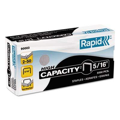 Rapid High Capacity Staples - 0.31quot; Leg - 0.50quot; Crown - Galvanized - 1/Box