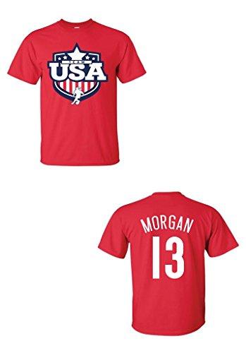 Local Imprint Men's Team USA Alex Morgan T-Shirt S RED (Tee Alex)