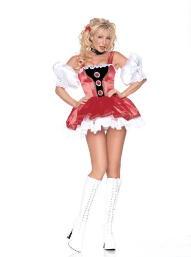 Leg Avenue Alpine Girl Dress Costume 8977 (RED,SMALL)