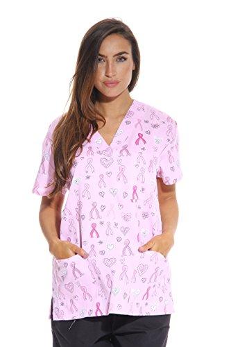 Just Love Women's Scrub Tops/Scrubs - Medium - Ribbon Print 1]()