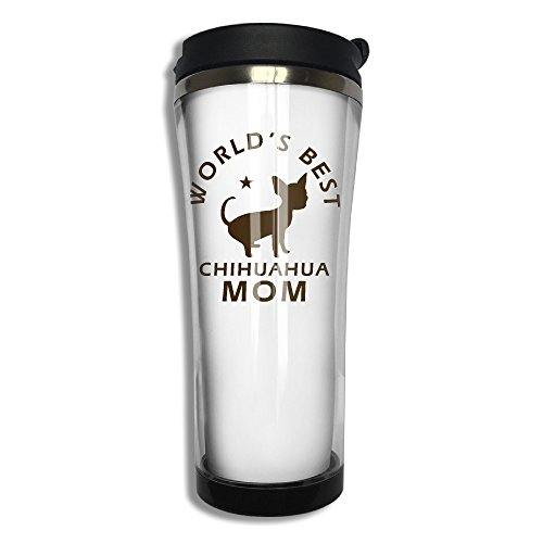 Price comparison product image Worlds Best Chihuahua Mom Stainless Steel Vacuum Coffee Cup Mug Coffee Thermos