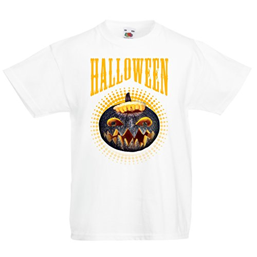 T Shirts for Kids Halloween Pumpkin - Clever Costume Ideas 2017 (5-6 Years White Multi Color) for $<!--$11.07-->