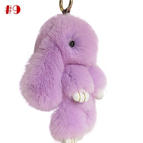 Mai Yi Soft Lovely Rabbit Doll Bunny Keychain Faux Fur Fluffy Keychain