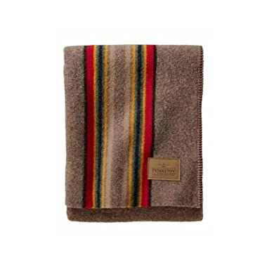 Pendleton Yakima Camp Wool Throw Blanket, Mineral Umber, One Size