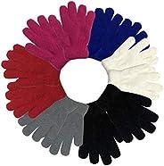 Kids Boys Girls Baby Gloves Winter Thick Warm Knit Cotton Mittens for 3-12 Years Unisex Children