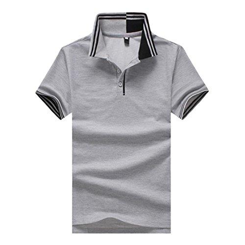 Yumiki ポロシャツ メンズ 半袖 大きいサイズ Tシャツ カジュアル 紳士ポーツゴルフ シャツ ゆったり リラックス 着やすい 通勤 通学 部屋着 トップ ブラウス