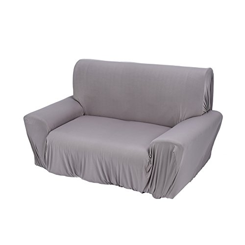 Estink Fabric Sofa Slipcover,Soft Lightweight Sofa Couch Covers Washable Settee Protector Stretch Slipcover for Chair Loveseat Sofa,Loveseat(2 Seater),Grey
