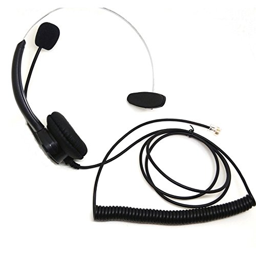 CQtransceiver Hands Free Landline Telemarketing Call Center Headphone with Microphone for Aastra 6753i 6755i 6757i Phone Headset