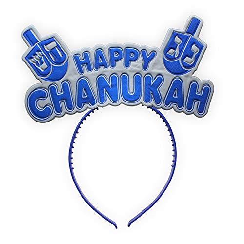 Happy Hanukkah Light up Head Bopper, Headband for Chanukah Parties ()