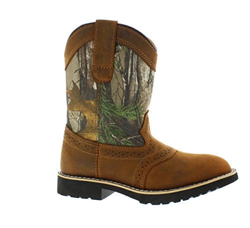 - Itasca Unisex Youth Pull-on Leather/Nylon Buckaroo Western Boot, Camouflage, 13.0 Standard US Width US Little Kid