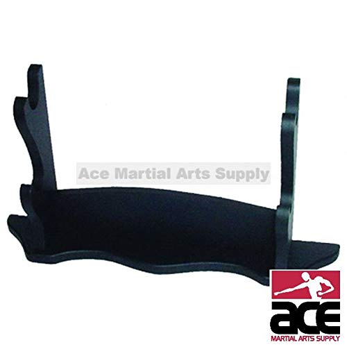 Ace Martial Arts Supply Two Way Deluxe 2 Tiers Wall Mounted or Table Samurai Katana Sword Display Stand