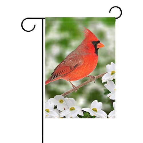 U LIFE Decorative Natural Cardinal Floral Branch Garden Yard
