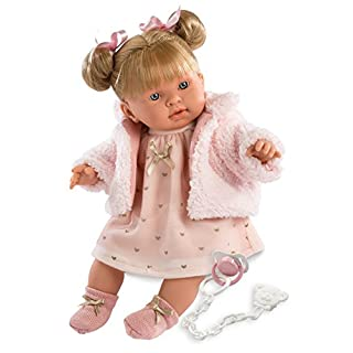 """Llorens 16.5"""" Soft Body Crying Baby Doll Abby"""