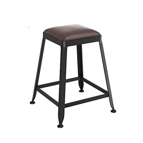 Fly silla plegable C-K-P Moda Bar Taburete de Hierro Forjado Alto Taburete Giratorio cafe Contador de Altura de Madera Alta 45 cm × Ancho 40 cm (Color : B)