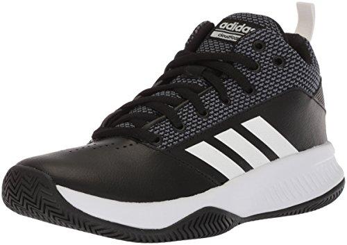 adidas Men's CF Ilation 2.0 Basketball Shoe, Core Black/White/Grey Five, 10 M US