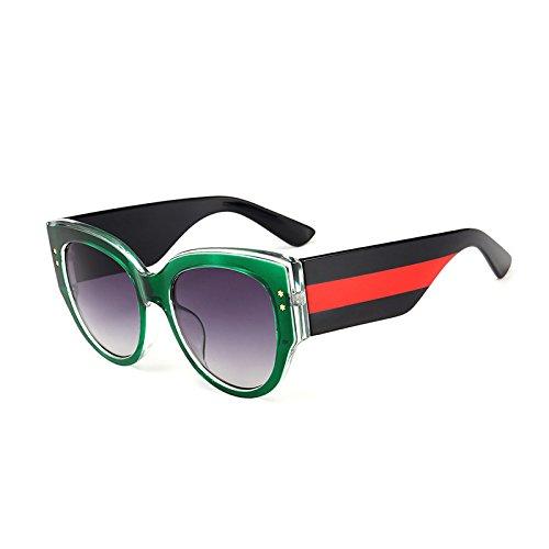 Brillen Rot Oculos Objektiv Stripes Kristall C1 Sonnenbrille Gradienten Frauen Designer Schwarz C5 Uv400 Marke KLXEB Rahmen Oval w0RSvRq