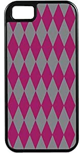 Blueberry Design Apple iPhone 5 Case iPhone 5S Case Cases Diamond Pattern Design Raspberry and Grey - Ideal Gift hjbrhga1544