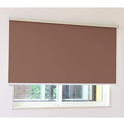 写真グリット処理するロールスクリーン アゲインスト(ブラウン)幅60×丈150cm 1本 (防音 断熱 遮光1級)