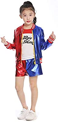 Suicide Squad Harley Quinn Cosplay Costume suitable for Kid and Adult