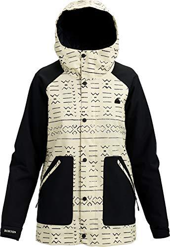 - Burton Women's Eastfall Jacket, Canvas Bogolanfini/True Black, Large