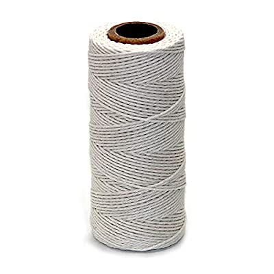 Ewparts Cotton Bakers Twine, Cotton String, Cooking Butchers Twine for Tying Poultry Meat Making Sausage, Gift Wrapping, DIY Crafts and Garden Decoration, 328 Feet (#2): Arts, Crafts & Sewing