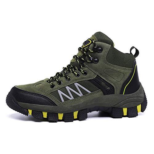 - Outdoor High Men Mountain Climbing Waterproof Walking Boots Anti-Skid Plus Size 39-45,Green,7