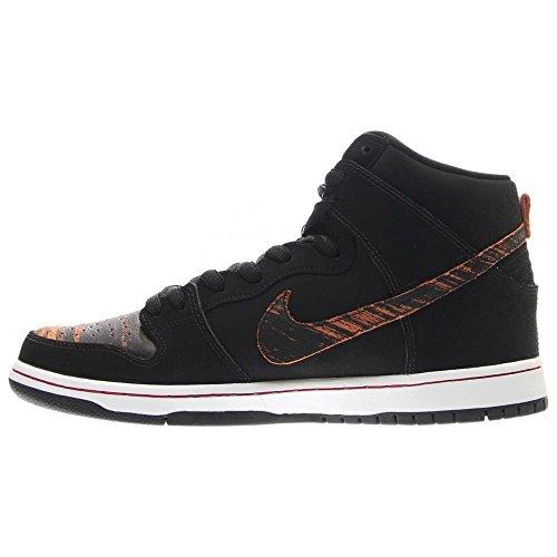NIKE Skateboard Shoes Dunk High Pro Black/Black - Red