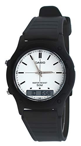 Casio AW49H-7EV Men's Analog Digital Alarm Chronograph Dual Time White Dial Watch