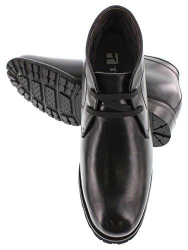 Toto X1812-3 Inches Højere - Højde Stigende Elevator Sko (sort Læder Lace-up Ankel Støvler) ltBDxU