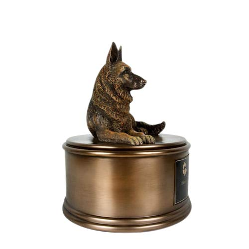 Perfect Memorials Custom Engraved German Shepherd Figurine Cremation Urn by Perfect Memorials (Image #2)
