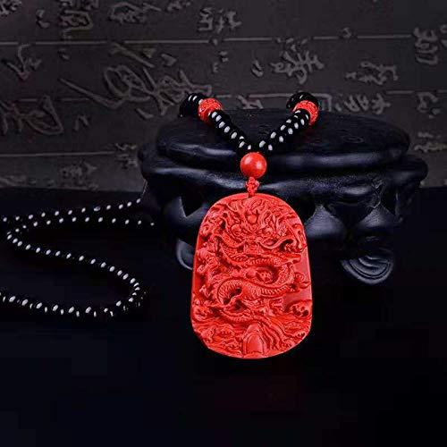 Davitu New Fashion Handmade Necklace Mix Big Cinnabar Pendant Necklace Beads Necklace Drop Shipping - (Metal Color: Customized)
