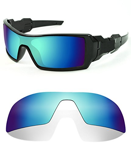Littlebird4 1.5mm Polarized Replacement Lenses for Oakley Oil Rig Sunglasses (Ice Blue ()