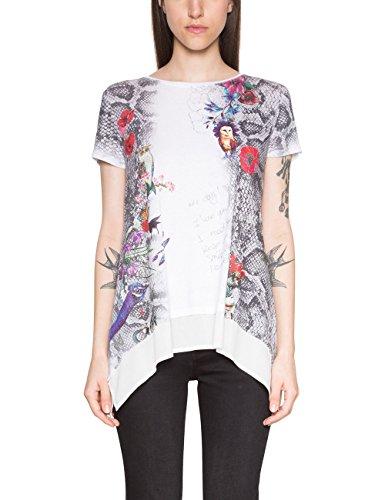 Ts Desigual daphneTT 1015 Femme shirt Blanccoton n0kOwP