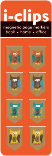 Owls i-Clip Magnetic Page Markers (Set of 8 Magnetic Bookmarks) from Peter Pauper Press
