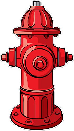 Vinyl Hydrant - Fire Hydrant WALL DECAL Kids Childrens Room Peel Stick Movable Cartoon Stickers Vinyl Wall Art