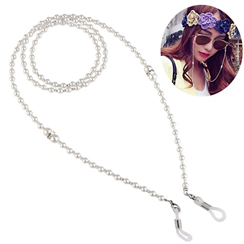 OULII Pearls Eyeglass Chain Glasses Strap Cords Sunglasses Eyeglasses Holder Lanyard Necklace Spectacles Holder Neck Cord - Necklace Sunglass