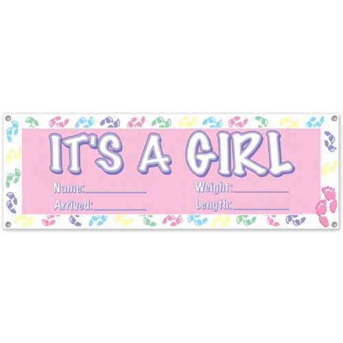 Girl Banner Party Accessory count