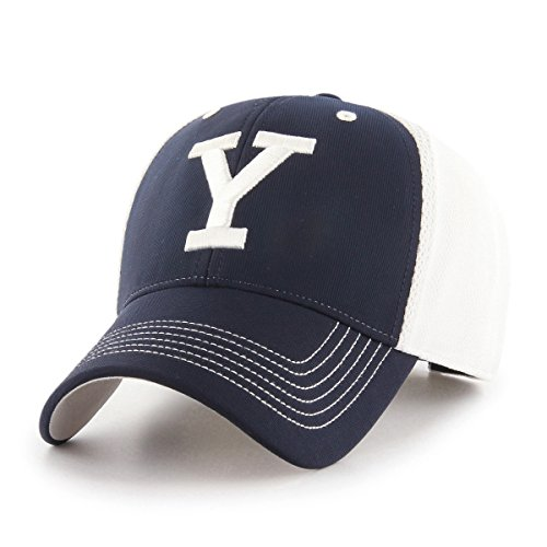 Yale University Baseball (OTS NCAA Yale Bulldogs Sling All-Star MVP Adjustable Hat, Navy, One Size)